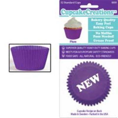 Purple Cupcake Case 32 Pack