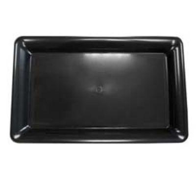 Black Plastic Rectangular Tray
