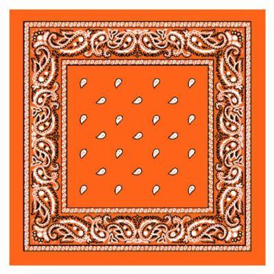 Orange Single Bandanna
