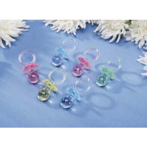 Plastic Pacifier Assorted - 6 Pack