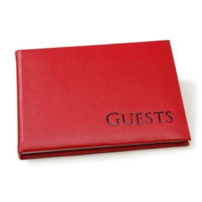 Bright Red Guest Book