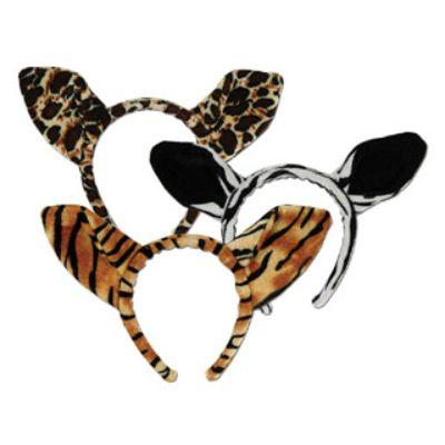 Soft-Touch Animal Print Ears