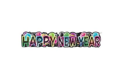 Giant Jointed New Year's Banner - Multicolor 4.75'