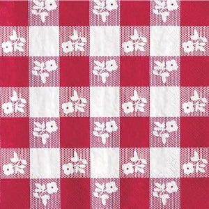 Red Gingham Luncheon Napkin - 18 Pack