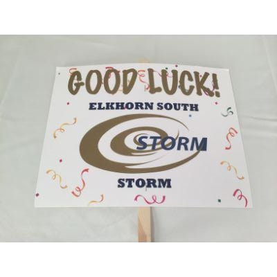 Elkhorn South Storm Good Luck Yard sign 14