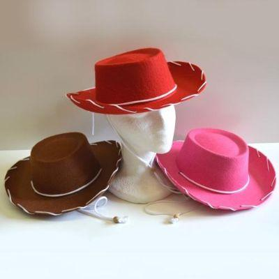 Child Cowboy Hat With White Trim - Assorted