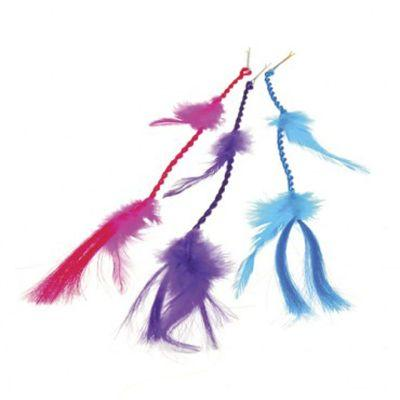Neon Feather Braid Hair Clip