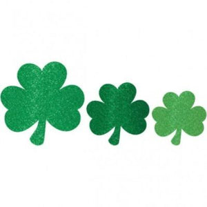 Glitter Shamrock Cutout Assortment