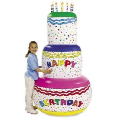 Inflatable Jumbo Birthday Cake 6'