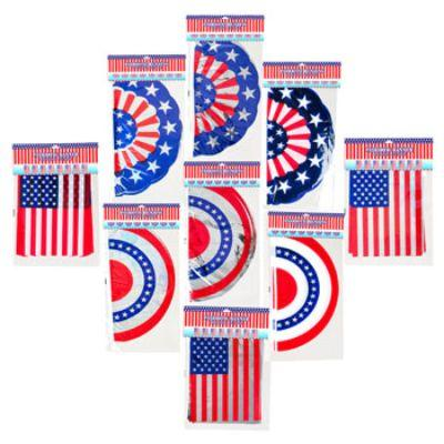 Patriotic Foil Banner - Assorted