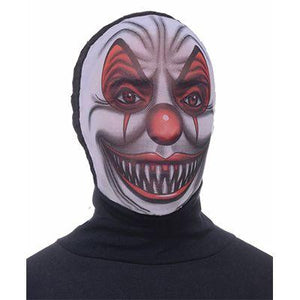 Hooded Scary Clown Mask