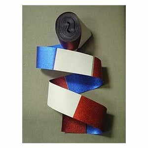 Red White & Blue Metallic Streamer 100'