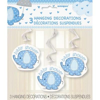 Umbrellaphant Blue Swirl Hangers - 3 Pack
