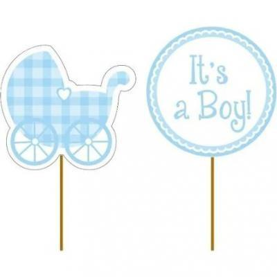 Cupcake Pick Baby Boy 12 Pack