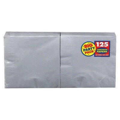 Silver Sparkle Big Party Pack Luncheon Napkin - 125 Pack