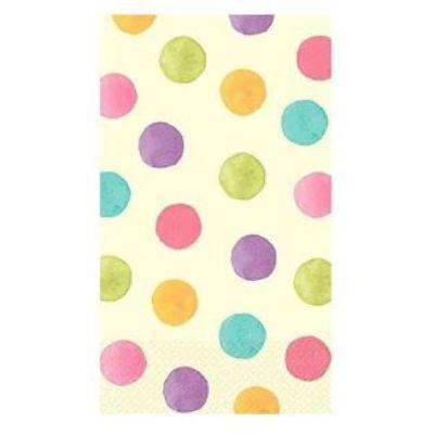 Watercolor Dots Paper Guest Towel Napkins - 16 Pack