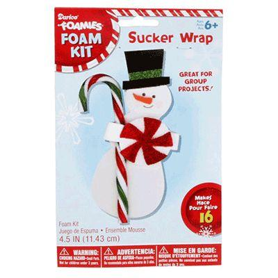 Snowman Sucker Craft Kit - 16 Pack