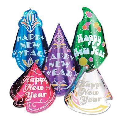 New Year's Champagne Party Hat - Assorted Multicolor
