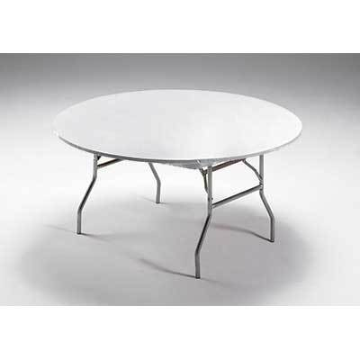 Bright White Plastic Round Fitted Tablecover 6