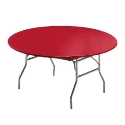 Red Round Fitted Plastic Tablecover 60