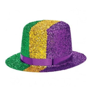 Mardi Gras Mini Glitter Top Hat