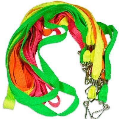 Bright Neon Lanyard Assortment - 12 Pack