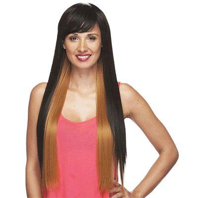HS Nashville Long Black & Brown Wig