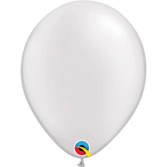 Pearl White Single Latex Balloon 11