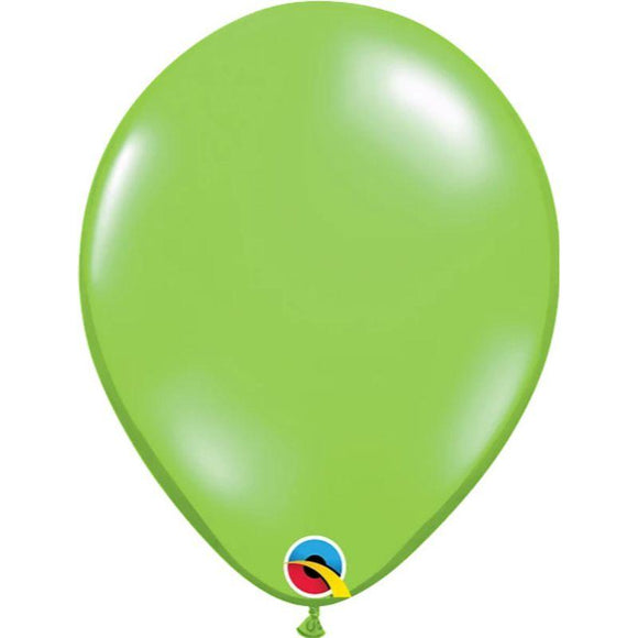 Solid Jewel Lime Single Latex Balloon 11