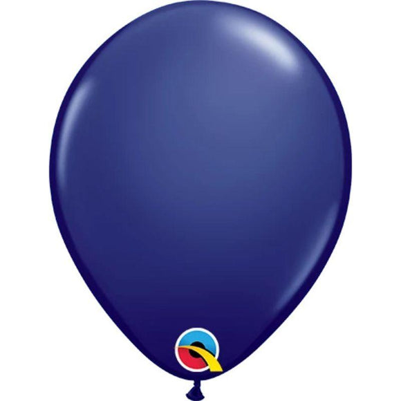 Solid Navy Single Latex Balloon 11