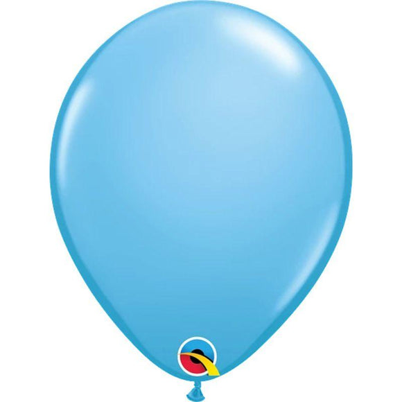 Solid Pale Blue  Single Latex Balloon 11