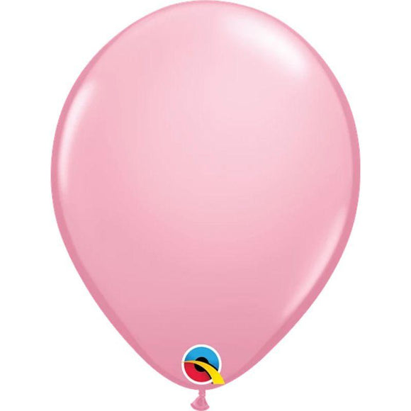 Solid Pink Single Latex Balloon 11