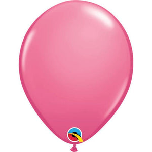 Solid Rose Single Latex Balloon 11""