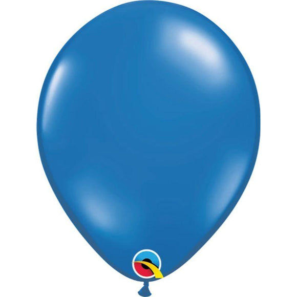 Solid Sapphire Blue Single Latex Balloon 11