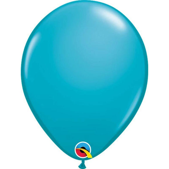Solid Tropical Teal Single Latex Balloon 11