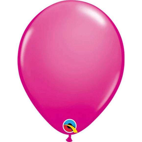 Solid Wild Berry Single Latex Balloon 11