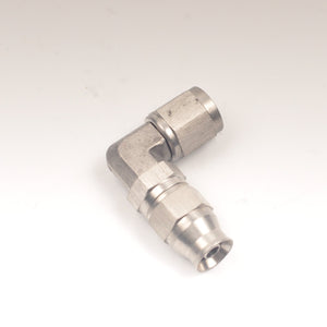 '-4AN 90 Degree Fitting (Stainless) -Ideal For Turbo Oil Lines (PTFE ONLY)