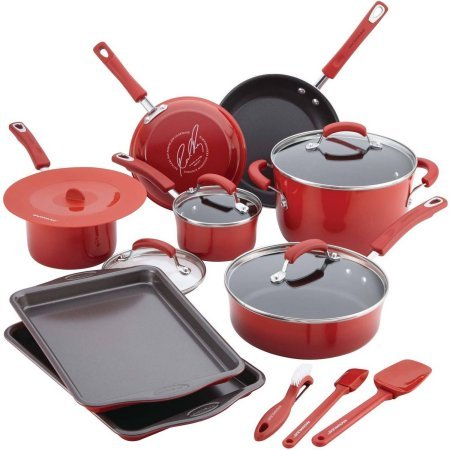 | 16-piece Cookware Set | Rachael Ray Cookware Set | Porcelain Nonstick Cookware Set | Porcelain Cookware Set | Nonstick Cookware Set | Cookware Set | Rachael Ray | Kitchen |