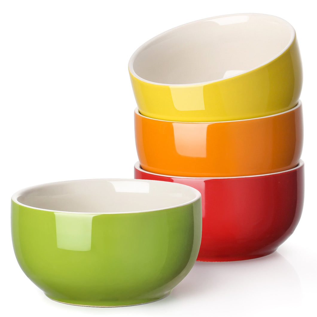 | Porcelain Soup Bowl | Bowl Assorted Colors | Soup Bowls Set | Soup Bowl | set of 4 soup bowls | porcelain soup bowls | LIFVER | Kitchen | fun cereal bowls |