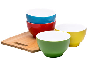 | Ceramic Bowls Set | Bowls Set | Kitchen | ice cream bowls | everyday bowls | colorful cereal bowls | cereal bowls | Bruntmor | bpa free colorful bowls |