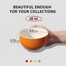 Load image into Gallery viewer, | Porcelain Soup Bowl | Bowl Assorted Colors | Soup Bowls Set | Soup Bowl | set of 4 soup bowls | porcelain soup bowls | LIFVER | Kitchen | fun cereal bowls |