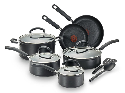 | 12-Piece Cookware Set | Black Cookware Set | Titanium Cookwear set | Nonstick Cookware Set | Dishwasher Safe Cookware Set | Cookware Set | T-fal | Kitchen |