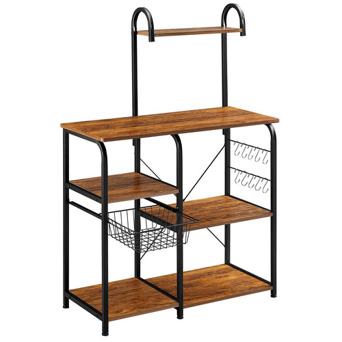 | Vintage Kitchen Baker's Rack | Baker's Rack | Storage Shelf | vintage bakers rack | Mr IRONSTONE | microwave stand | kitchen storage | Furniture | bakers rack storage | bakers rack |