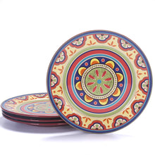 Load image into Gallery viewer, | Ceramic Plates Set | Vintage Tunisian Dinner Plates Set | 11 inch Dinner Plates Set | Dinner Plates Set | tunisian ceramic dinner plates | Kitchen | dinner plates | Bico | 11 inch plates |