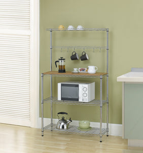 Shelves | Rack | microwave stand | Furniture | Finnhomy  | bakers rack | appliance storage | appliance garage | adjustable kitchen bakers rack |