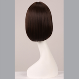 "12"" Short Straight Bob Hair Style With Flat Bangs Synthetic Wig-ZAZA015-ZAZALUM WIGS"