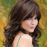 New York Designer Long Wavy Curly Brown Hair Wigs-ZAZA032-ZAZALUM WIGS