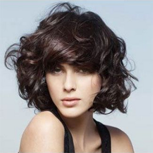 Natural Black Short Curly Bob Hair Style Synthetic Wigs  -ZAZA037-ZAZALUM WIGS