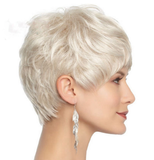 Vogue Short Light Blonde Pixie Wavy Synthetic Wig-TSS058-True Style WIGS