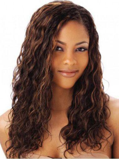 High Quality Brown Curly With Lace Wig 18 inches-ZAZA121-ZAZALUM WIGS